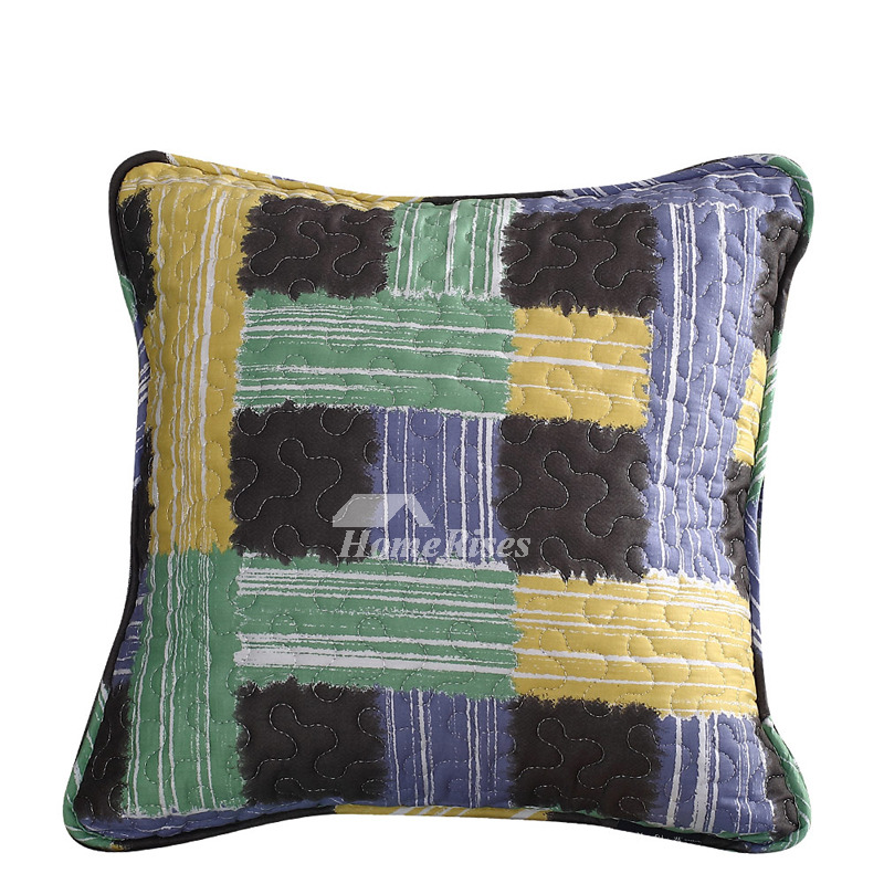 Modern Decorative Pillows For Couch Cotton Large Colored Aqua (Pillow Core  Not Included)