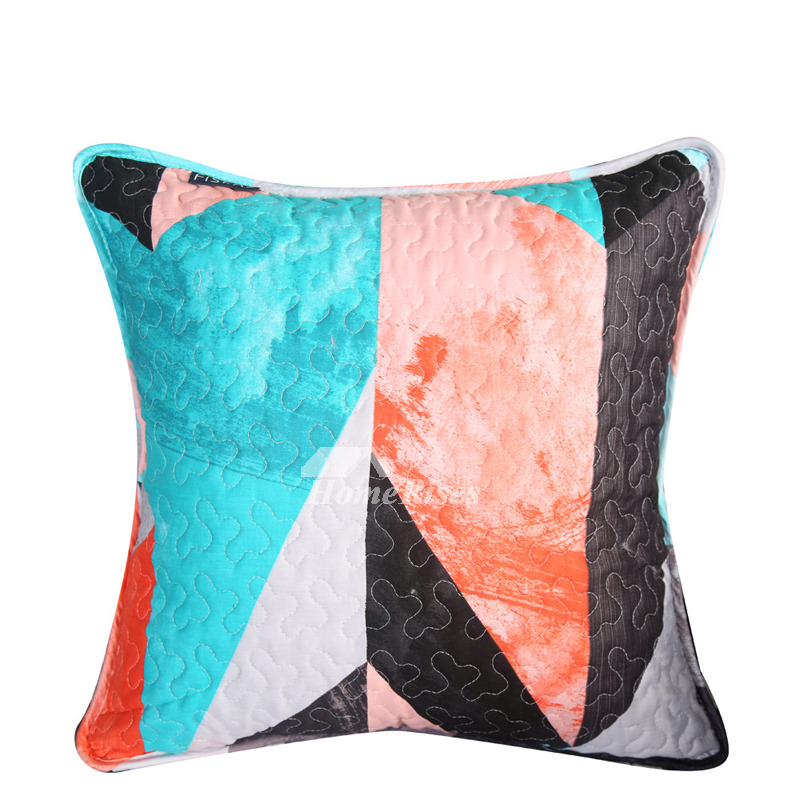 Couch Throw Pillows Gray Colorful
