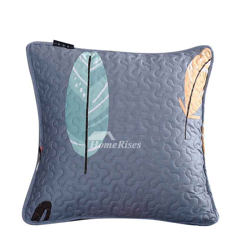 Designer Modern Cotton Couch Throw Pillows Gray Colorful