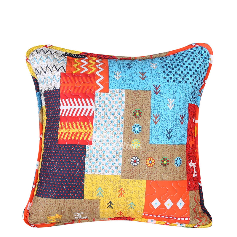 Colorful Pillows For Sofa: Designer Modern Cotton Couch Throw Pillows Gray Colorful