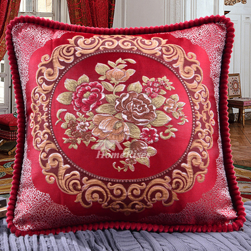 Pleasant Cheap Couch Pillows Polyester Decorative Burgundy Brown Gray Pillow Core Not Included Caraccident5 Cool Chair Designs And Ideas Caraccident5Info