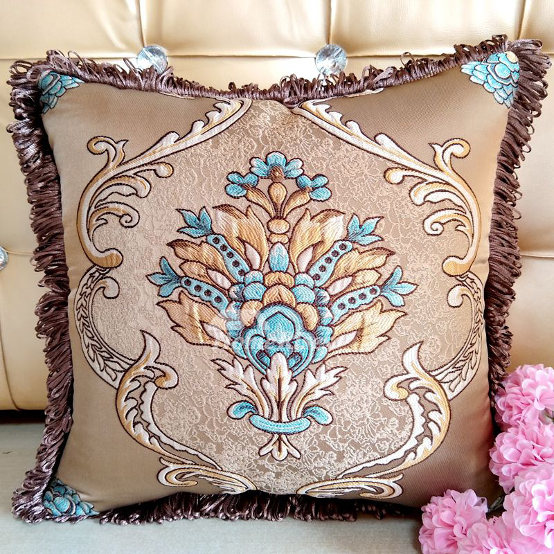 Decorative Pillows For Couch Burgundybluebrown Polyester Pillow