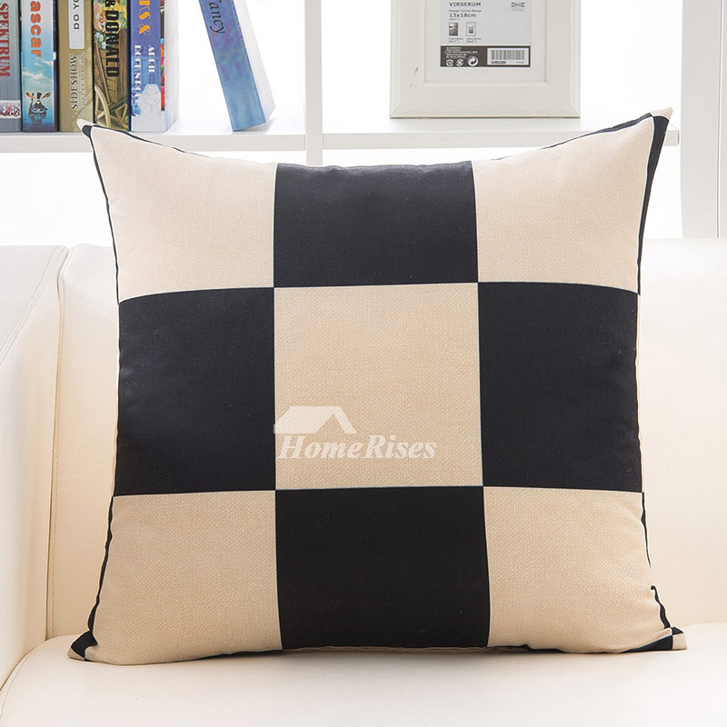 Cream Linen Throw Pillows : Decorative Pillow Sets Square Linen Cream Geometric (Pillow Core Not Included)