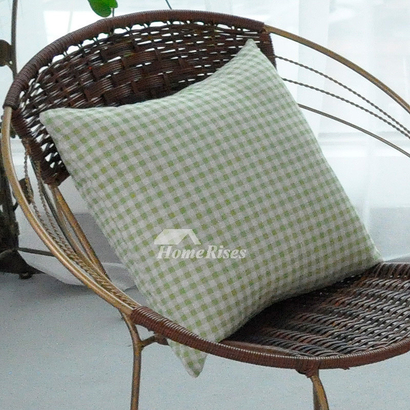 Decorative Pillow Modern : Modern Decorative Pillows Aqua Square Linen Geometric (Pillow Core Not Included)