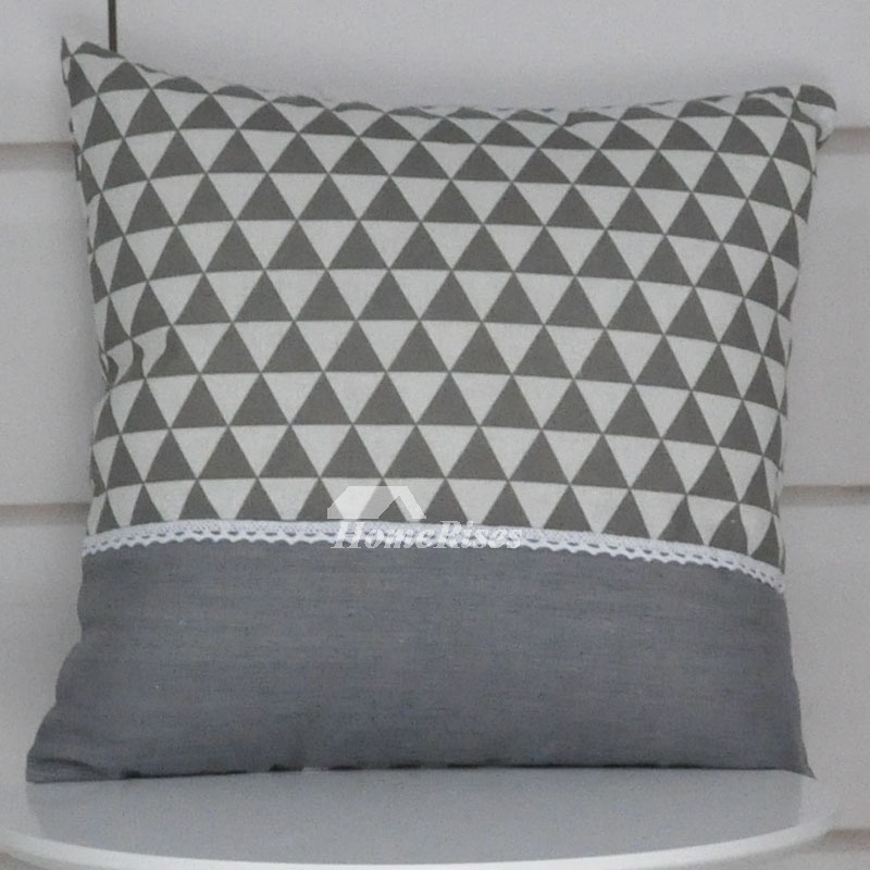 White Linen Throw Pillow : Grey Decorative Pillows Square White Linen For Sofa Black (Pillow Core Not Included)