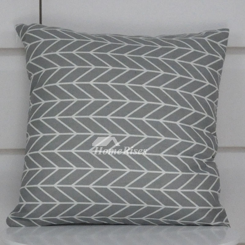 Gray Decorative Pillows Linen Square For Sofa Cheap Pillow Core Not