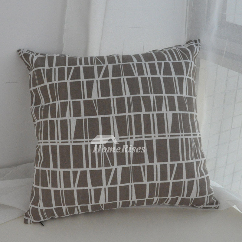 Gray Decorative Pillows Linen Square For Sofa Cheap