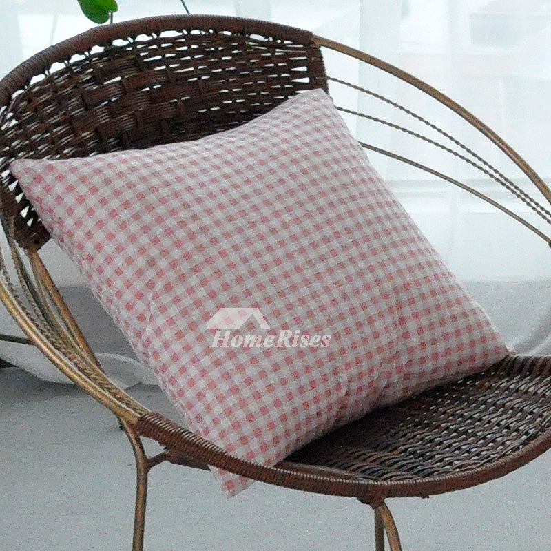 Blue Decorative Pillows Square Linen Gray Pink Black
