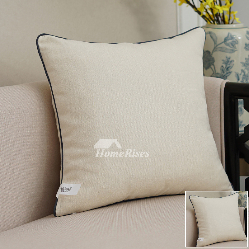 Sofa Pillows Contemporary: Modern Grey Decorative Pillows Square Linen For Couch