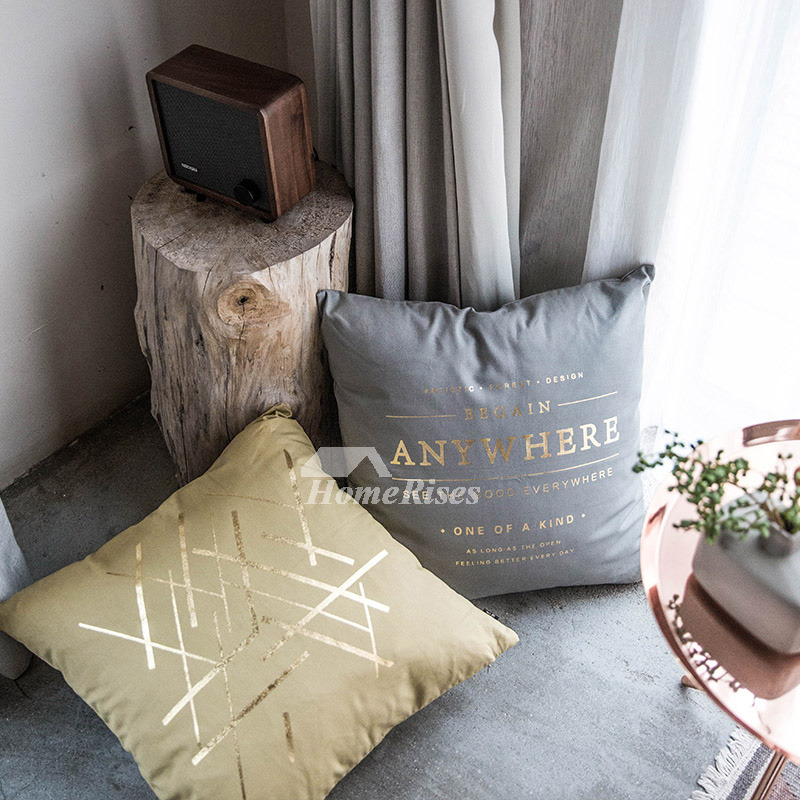 Decorative Pillows For Sofa Canvas Square White Gray Cream Pillow Core Not Included