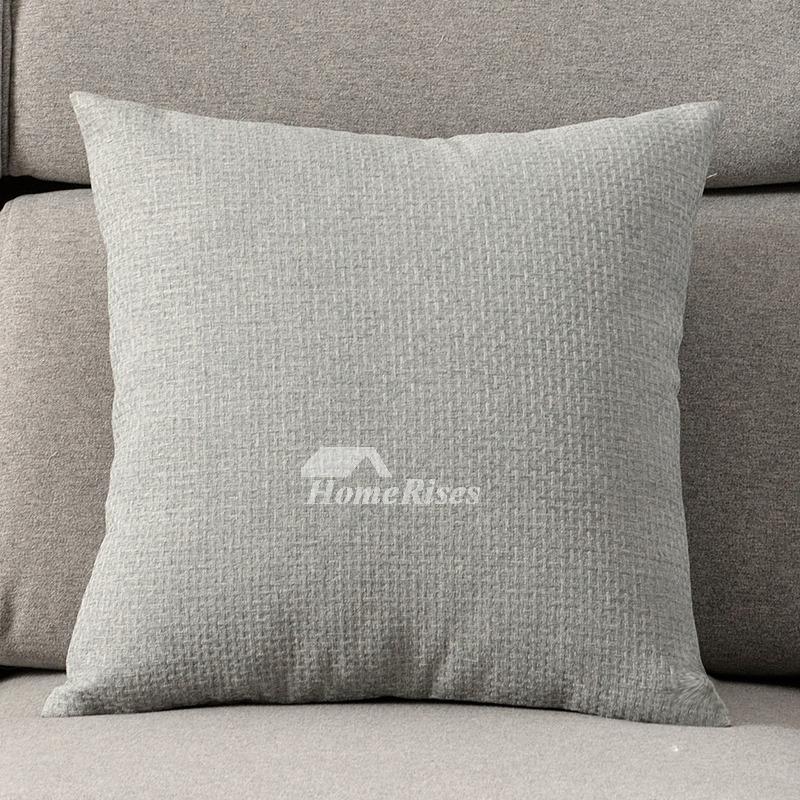 Decorative Pillows On Blue Gray