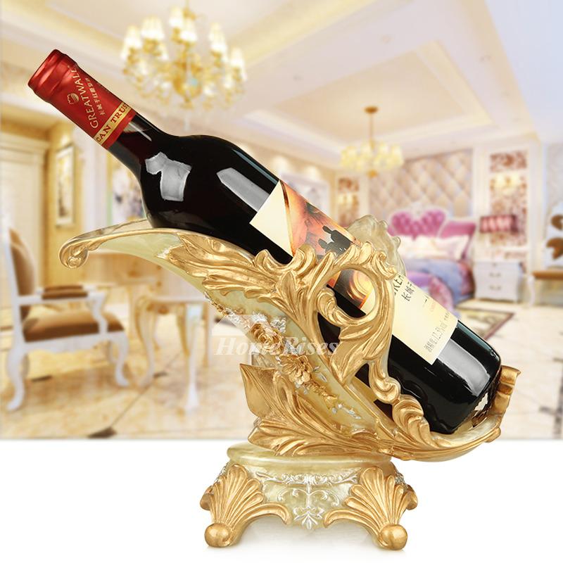 Single Wine Bottle Holder Resin Unique Decorative Elephant