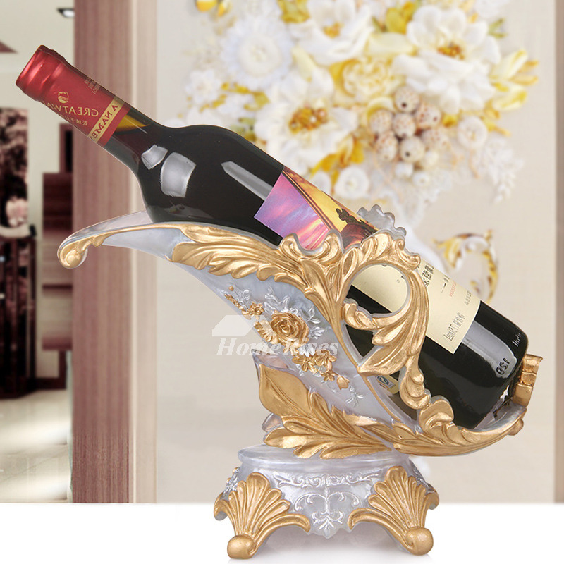 Single Wine Bottle Holder Resin Unique Decorative Elephant