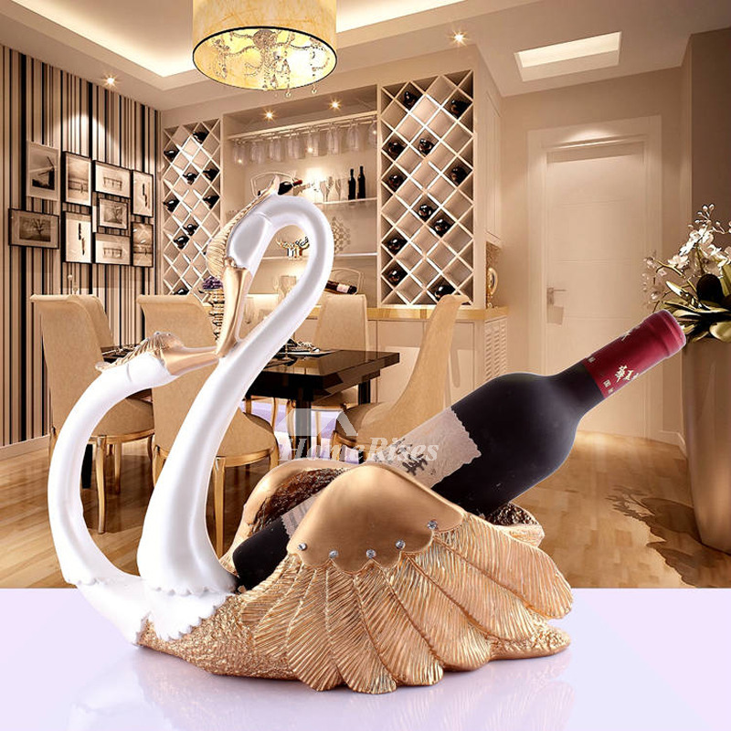 Unique Wine Bottle Holders Decorative Swan Shaped Resin