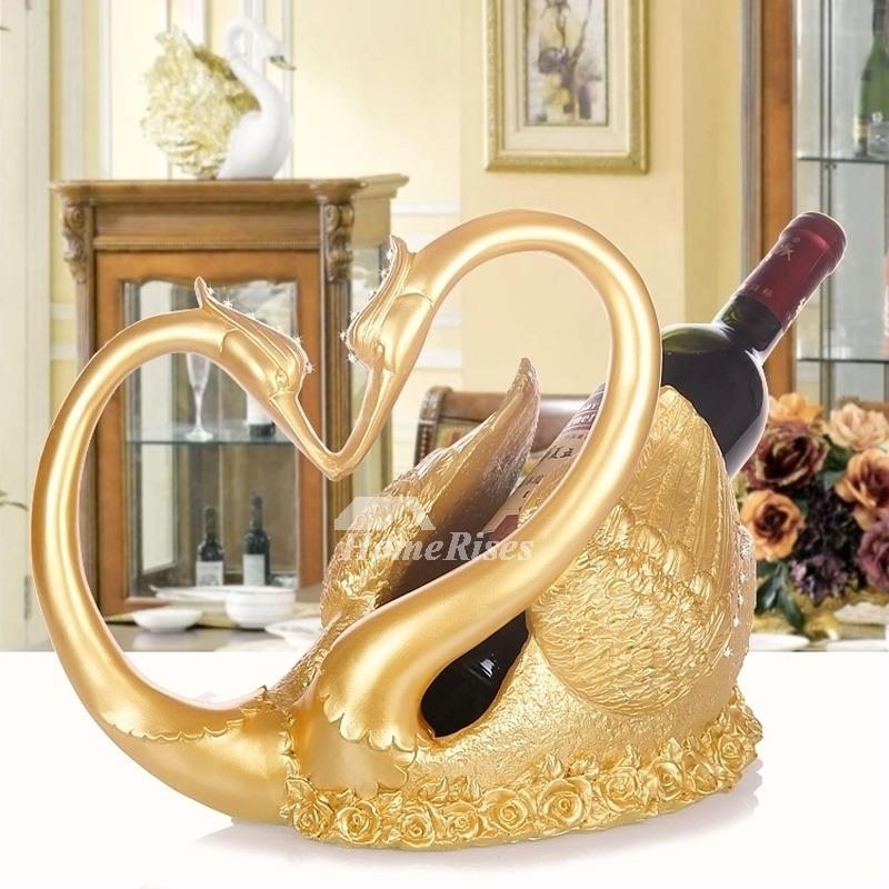 Unique Wine Bottle Holders Decorative Swan Shaped Resin