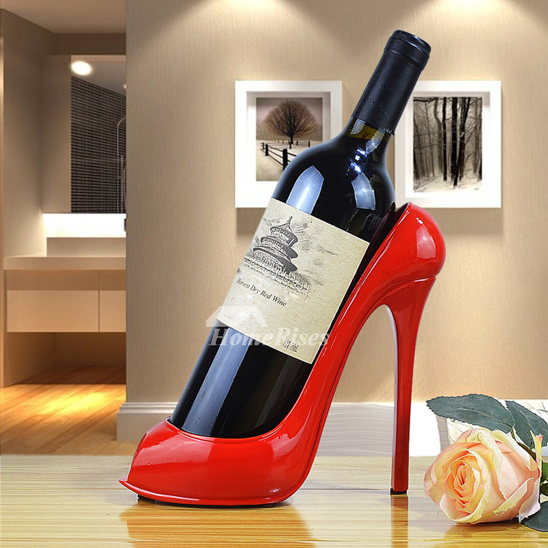Single Wine Holder High Heels Decorative Art Bottle Unique