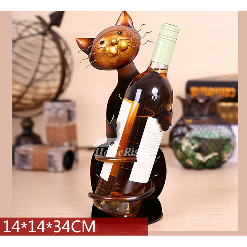 Decorative Wine Bottle Holders Metal Unique Iron Single