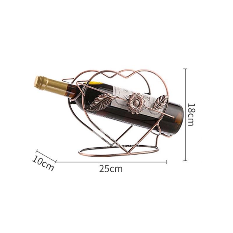 Single Wine Bottle Holder Decorative Unique Metal Carved Unique Best