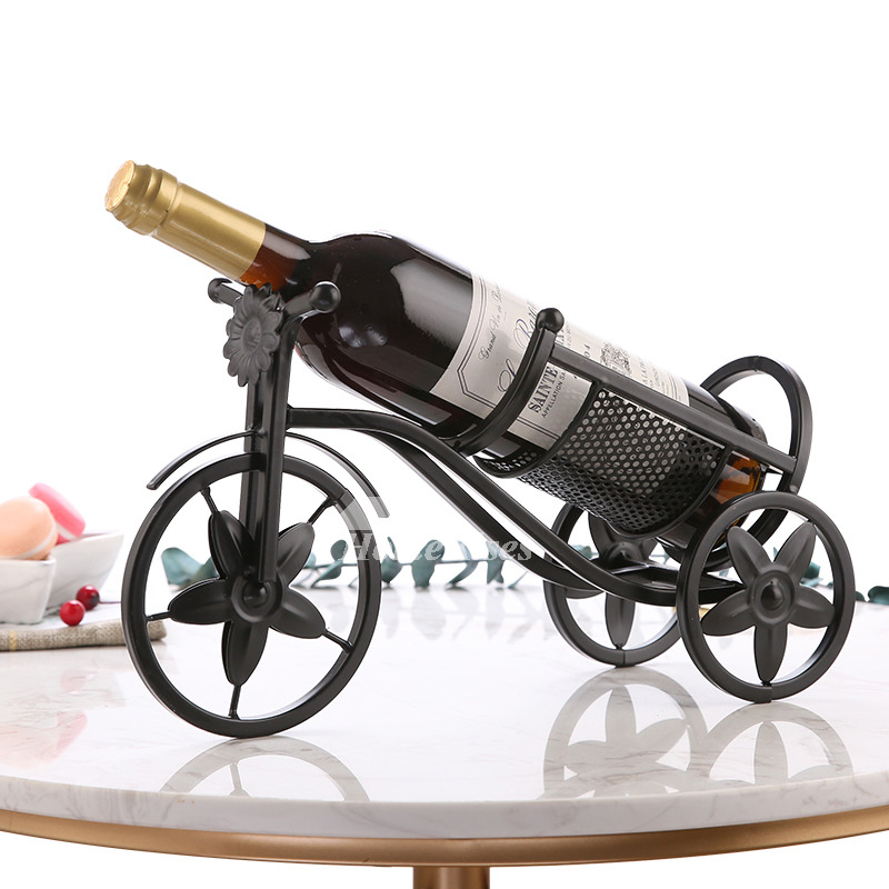 Metal Wine Bottle Holder Decorative Unique Car Iron Single Bottle Black Mesmerizing Decorative Wine Bottle Holders