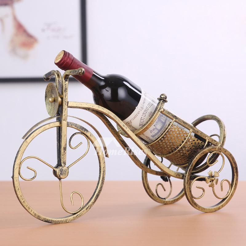 Metal Wine Bottle Holder Decorative Unique Car Iron Single