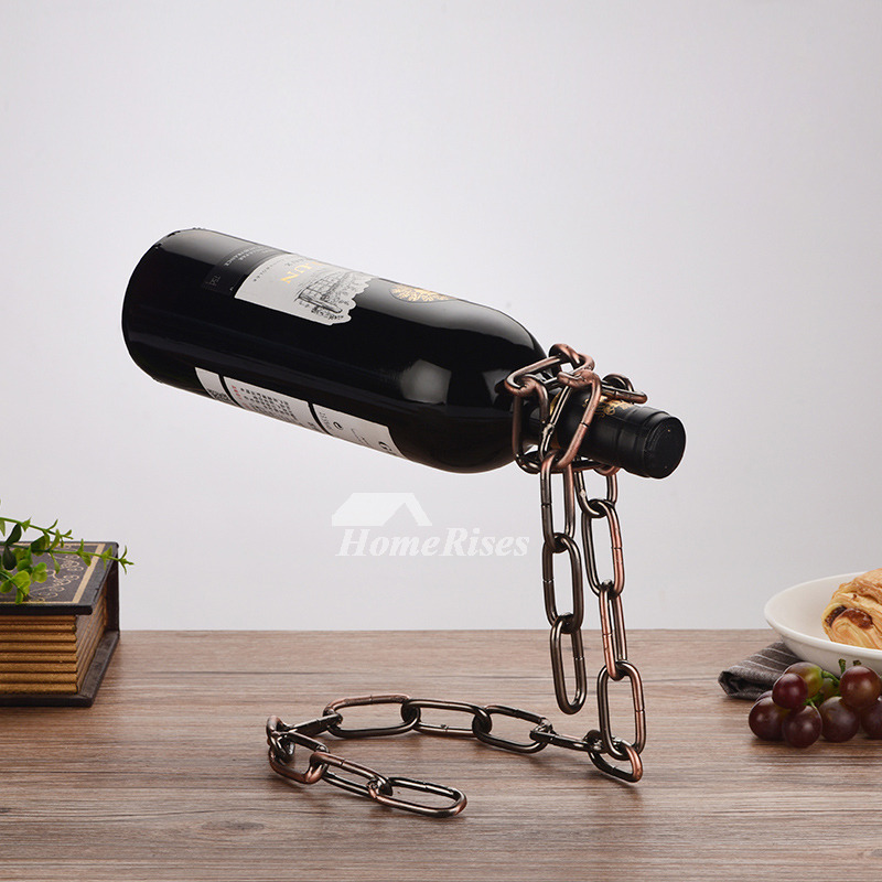 Metal Wine Bottle Holder Unique Decorative Vintage Modern Best Iron Classy Decorative Wine Bottle Holders