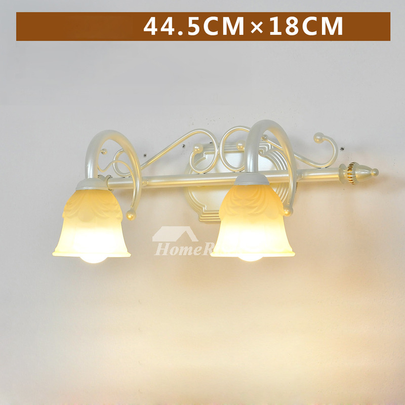 Bathroom Wall Sconces Fixture Rustic Modern Gl Wrought Iron Antique