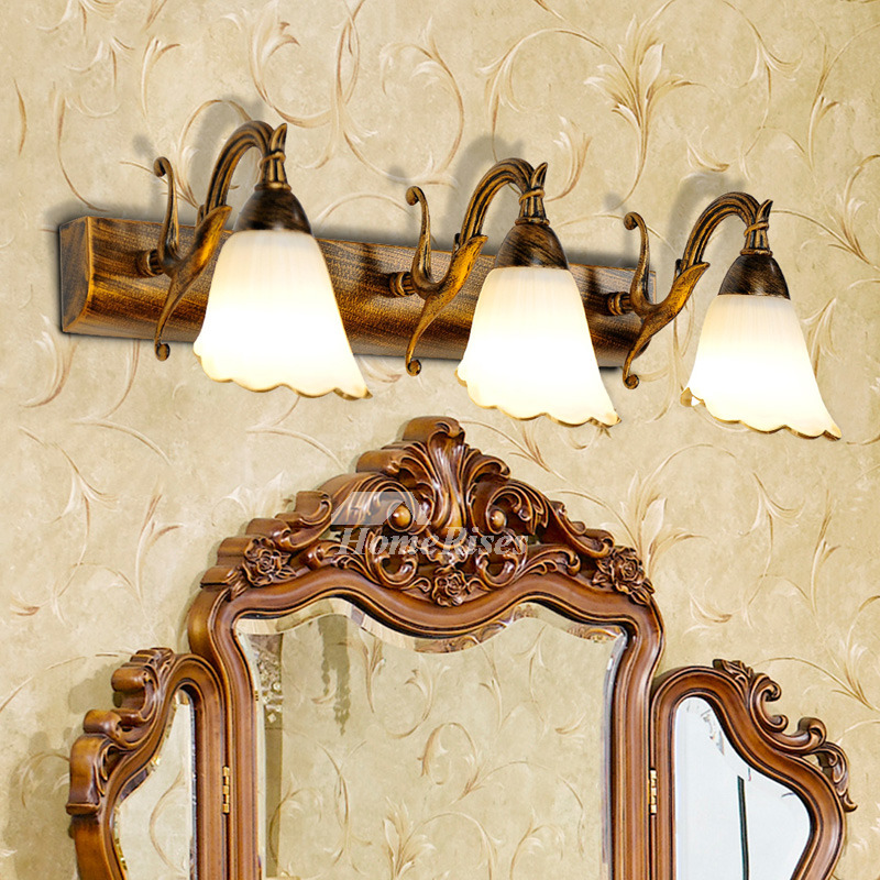 Vintage Wall Sconce Lighting Mirror Front Decorative
