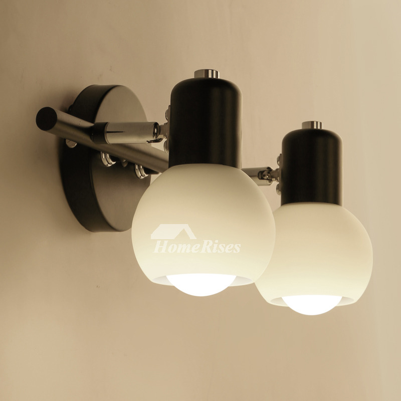 Contemporary wall sconces industrial wrought iron mounted blackwhite mozeypictures Choice Image