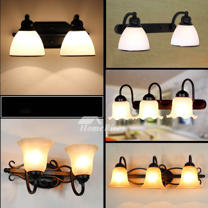 Wall Sconce Lights Mirror Front Bathroom Wrought Iron