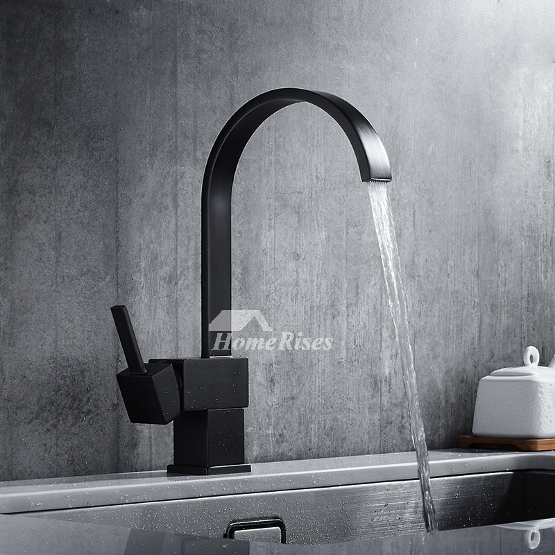 High End Kitchen Faucets Industrial Brass Oil-Rubbed Bronze Rotatable