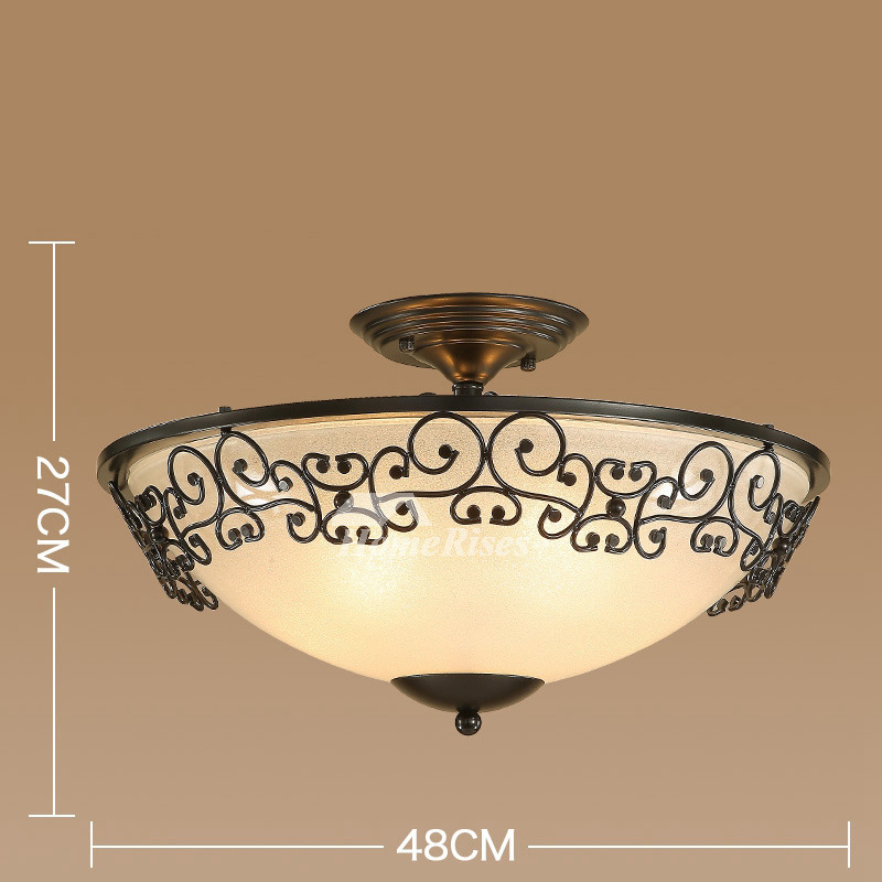 Rustic Ceiling Lights Semi Flush Mount Kitchen Drum