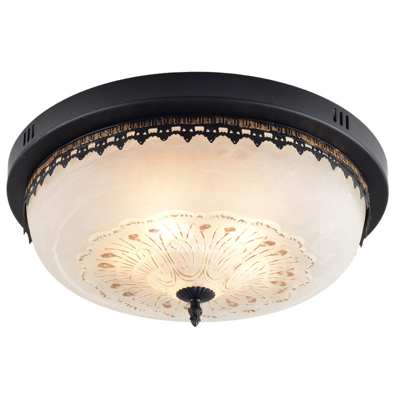 Mesh Industrial Flush Mount Ceiling Light - Shades of Light  Kitchen Flush Mount Ceiling Light