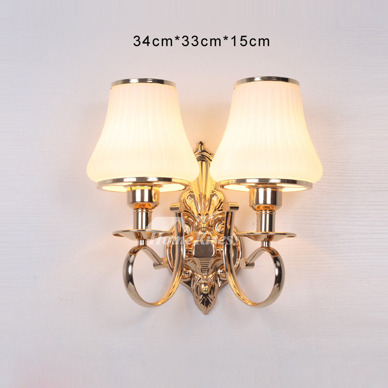Bathroom Wall Sconce 2 Light Hardware Gl Decorative Lights Vintage