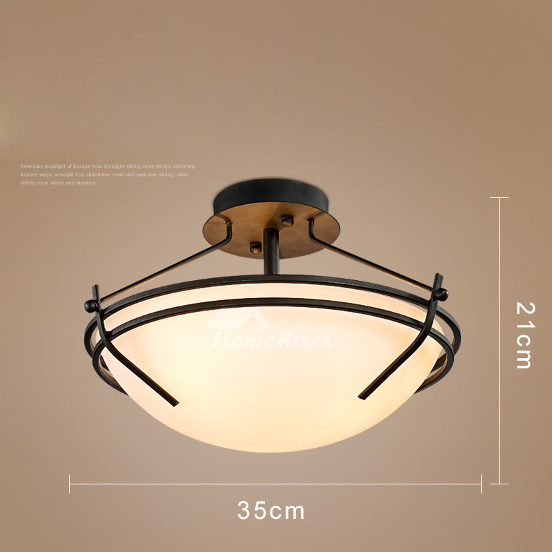 Ceiling Light Fixtures Semi Flush Mount Rustic Bedroom Living Room