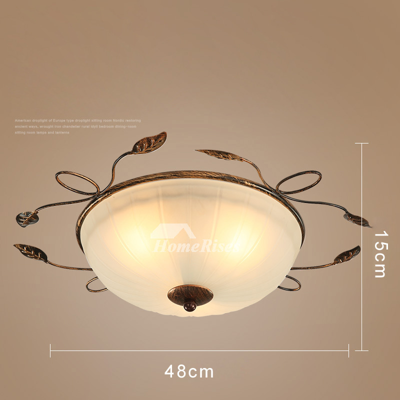 Ceiling Light Fixtures Semi Flush Mount Rustic Bedroom