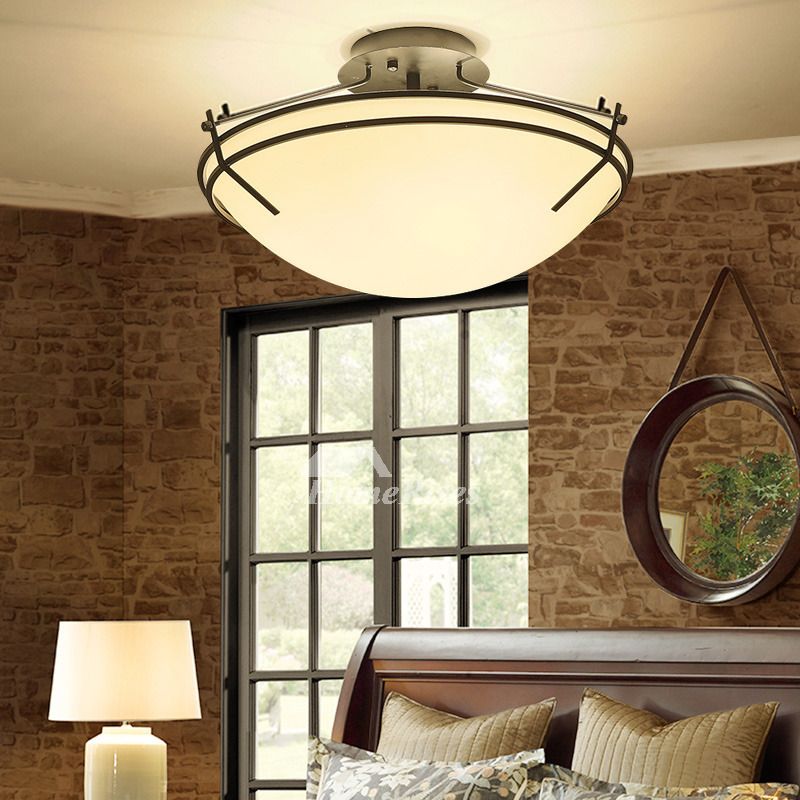ceiling light fixtures semi flush mount rustic bedroom living room. Black Bedroom Furniture Sets. Home Design Ideas