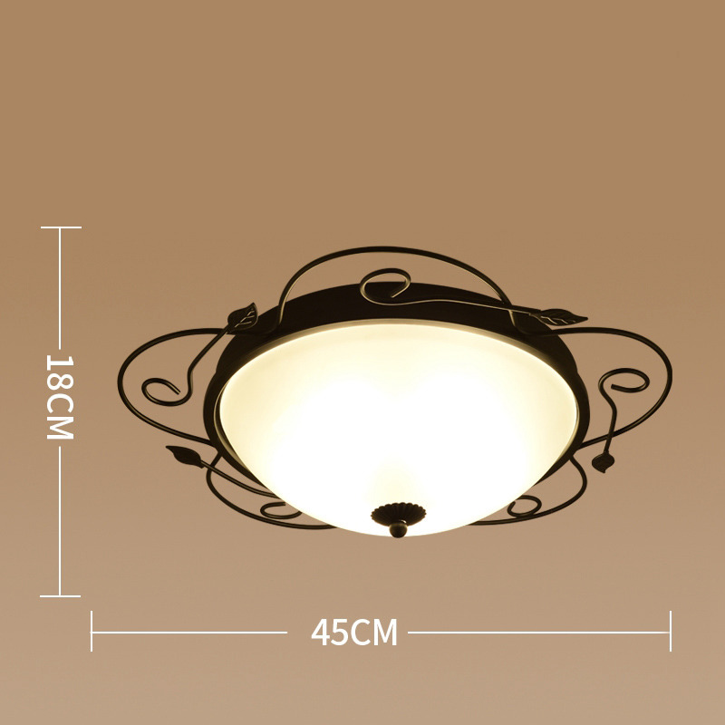 Flush mount ceiling lights wrought iron glass country bedroom vintage aloadofball Gallery