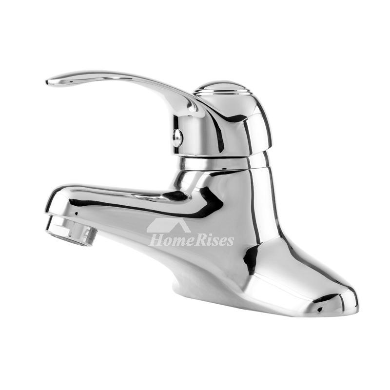 Silver bathroom faucets chrome brass centerset single handle - Brass and chrome bathroom faucets ...
