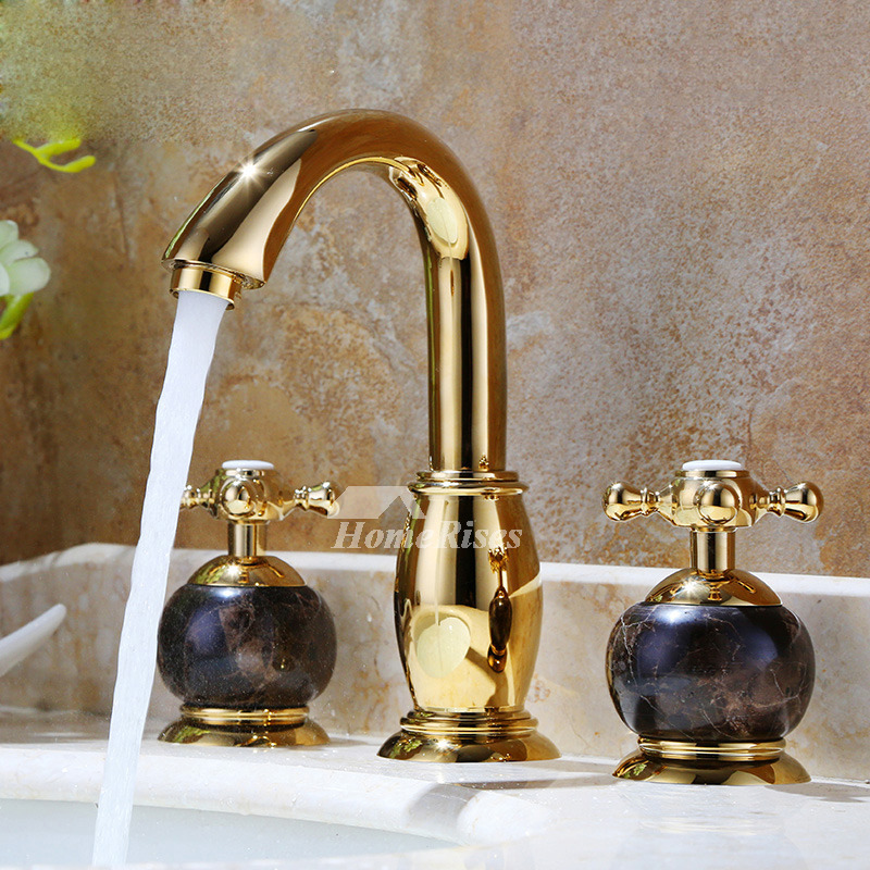 Best Bathroom Faucets Marble Cross Handle Polished Br Luxury on