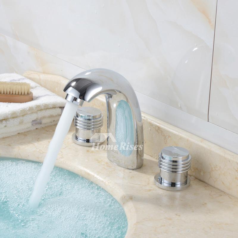 Contemporary bathroom faucets widespread chrome brass silver - Brass and chrome bathroom faucets ...