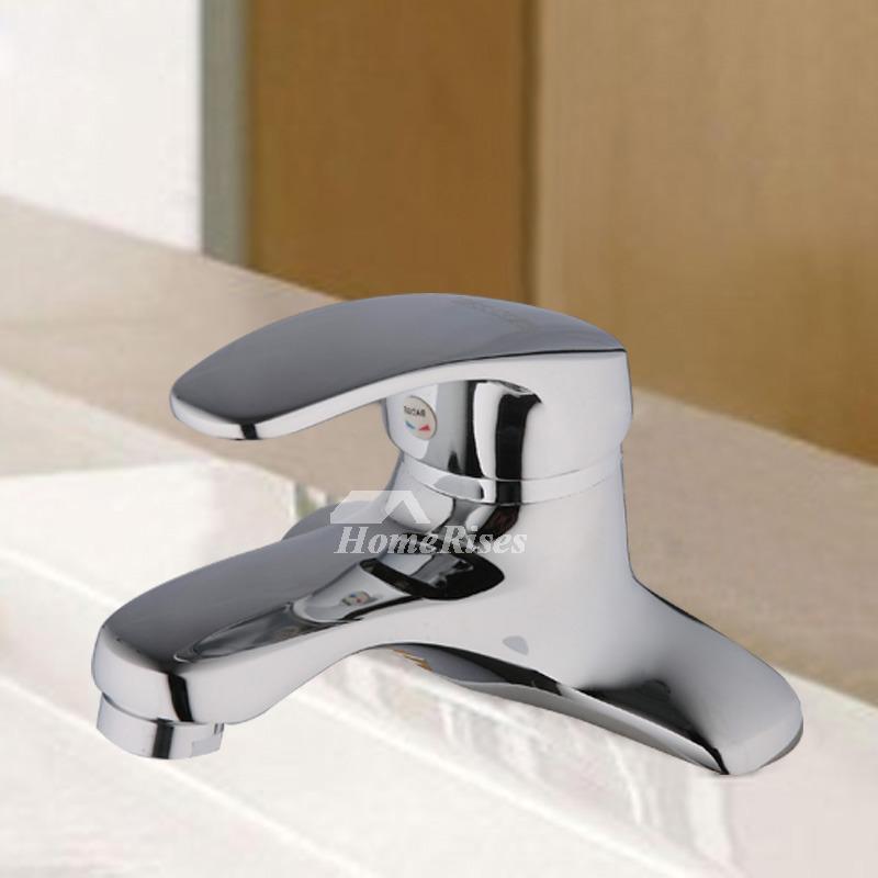 Bathroom Faucets Single Handle 2 Hole Brass Chrome