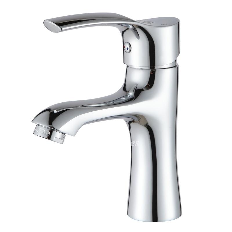 Chrome Single Hole Bathroom Faucet Brass Vessel Silver
