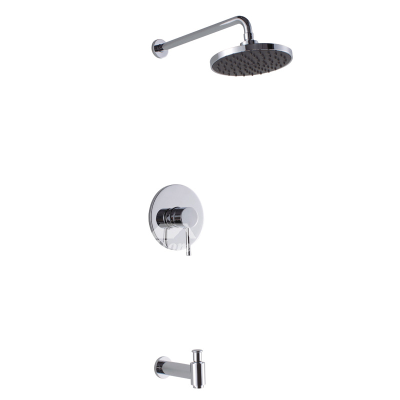 Shower Faucets Brass Wall Mount Rain Forest Chrome