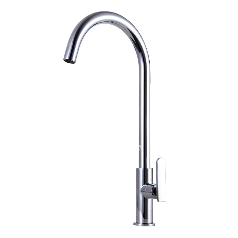 cheap kitchen faucet cheap modern kitchen faucets silver brass gooseneck single handle 9824