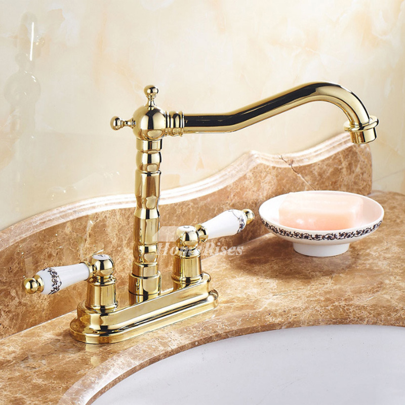 Large Bathroom Sink With Two Faucets