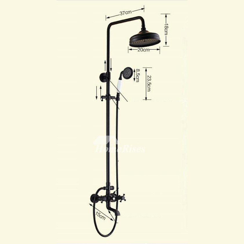 Oil Rubbed Bronze Shower Fixtures Black Br Wall Mount Clic