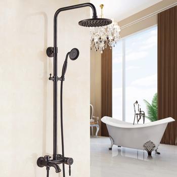 Black Exposed Shower System