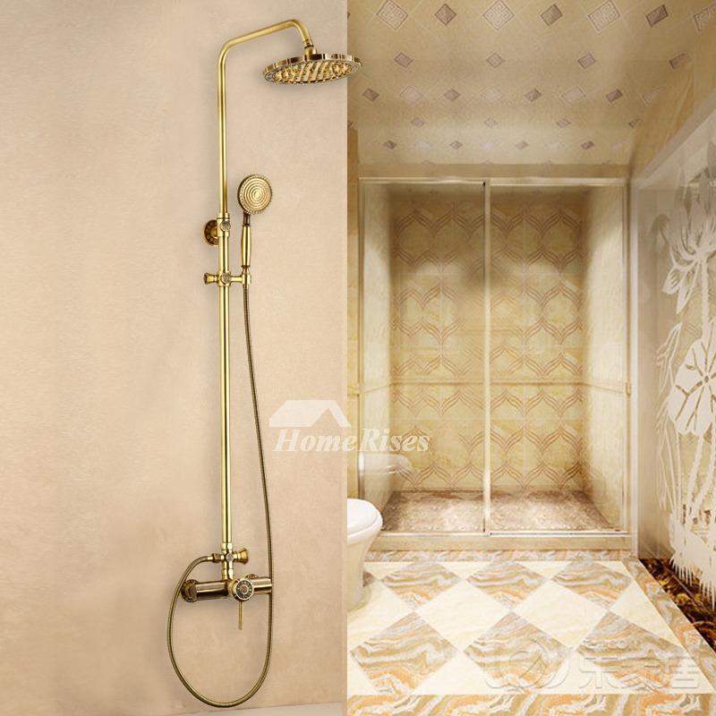 Best Single Handle Gold Wall Mount Rain Shower System