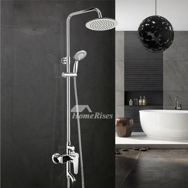 Bathroom Vanity Faucets Chrome Silver Wall Mount Rotatable With Spout