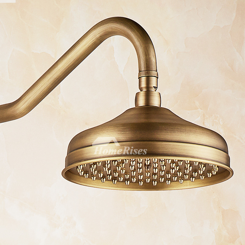 Hand Held Shower Systems 3 Handle Brushed Carved Antique